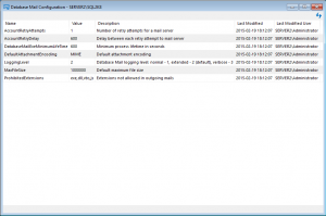 dbmail config