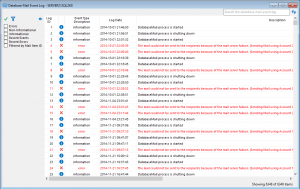 dbmail event log