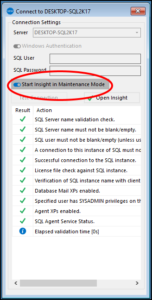 start in maintenance mode